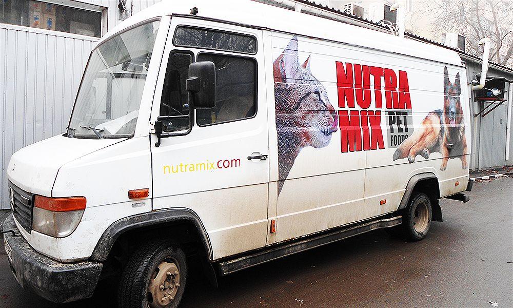 брендирование микроавтобуса кормов для животных