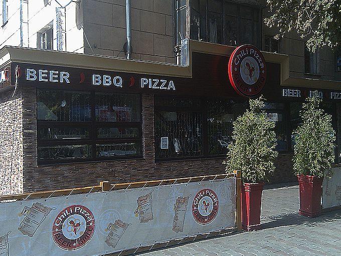 Вывеска пиццерии