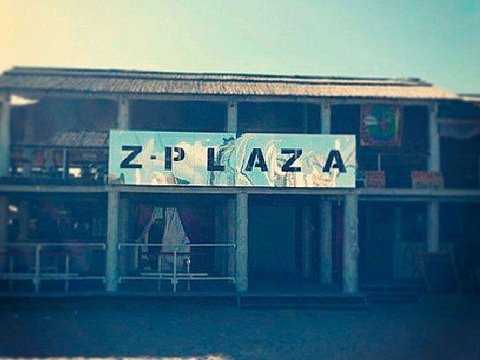 Вывеска ресторана Z-plaza