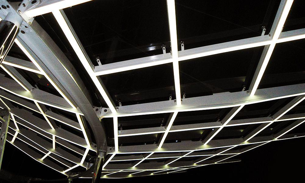 Изготовление светящегося козырька отеля Немо