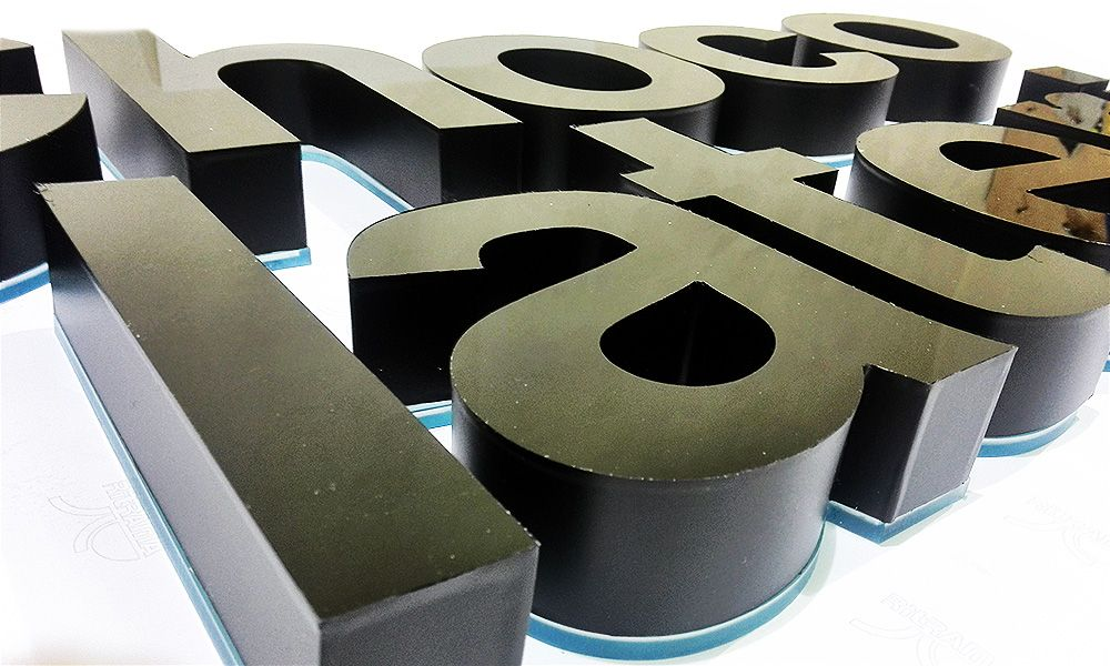 Объемные буквы Сhocolaterie
