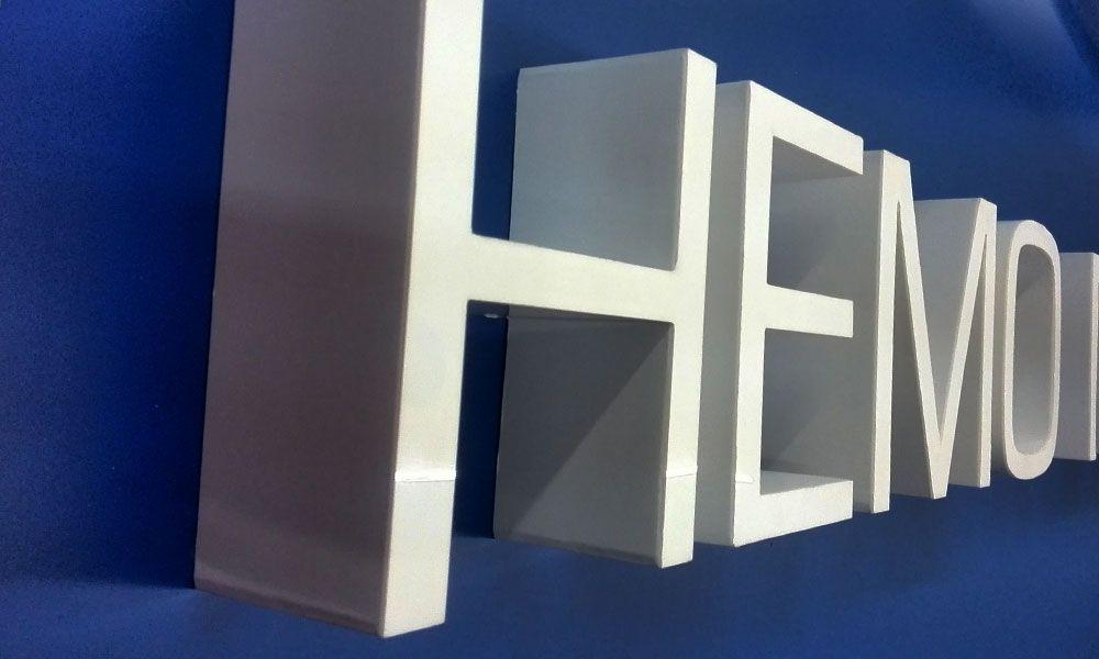 объемные буквы вывеска Hemo Medika Odessa