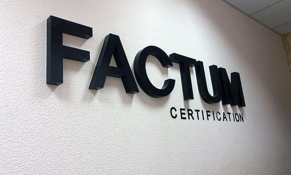 Интерьерная вывеска Фактум