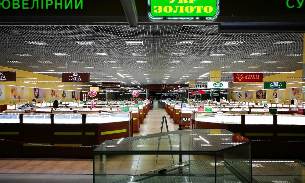 Лайтбоксы в супермаркет Укрзолото
