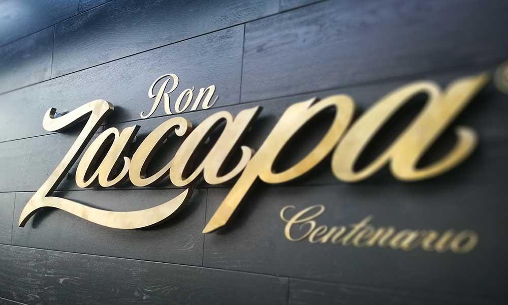 Изготовление рекламной вывески Zacapa