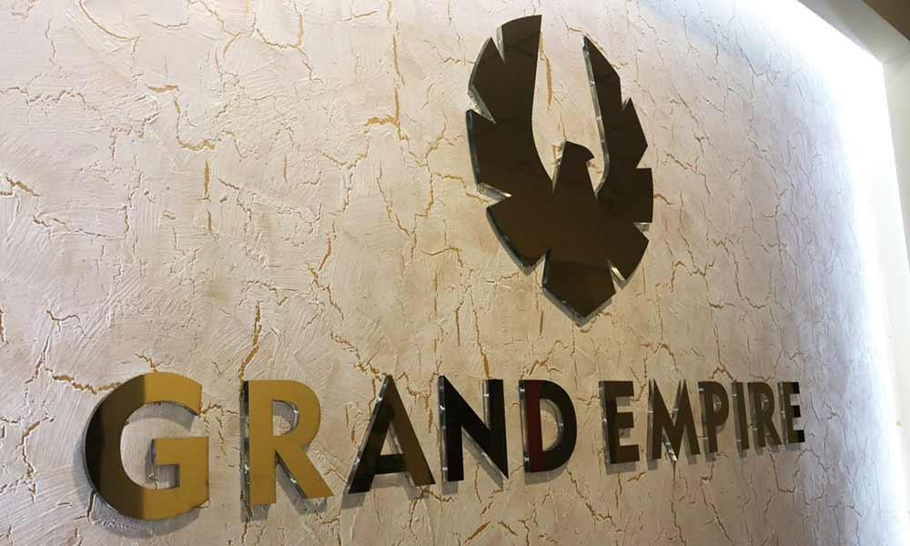 Интерьерные вывески бизнес-центра Grand Empire
