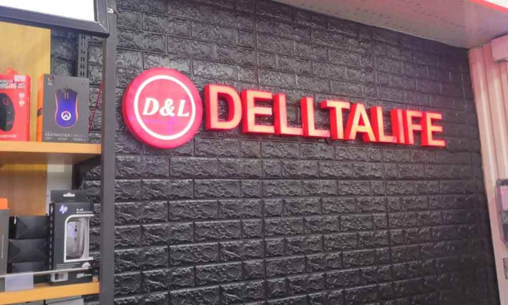 Вывеска Дельталайф для магазина электроники