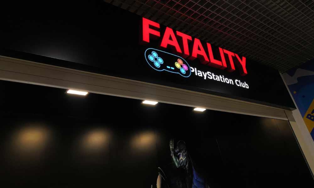 Вывеска Fatality на композитной основе