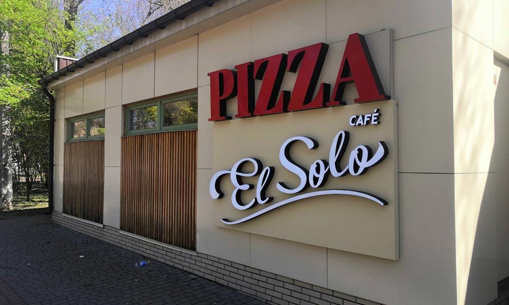 Уличная реклама для кафе El Solo