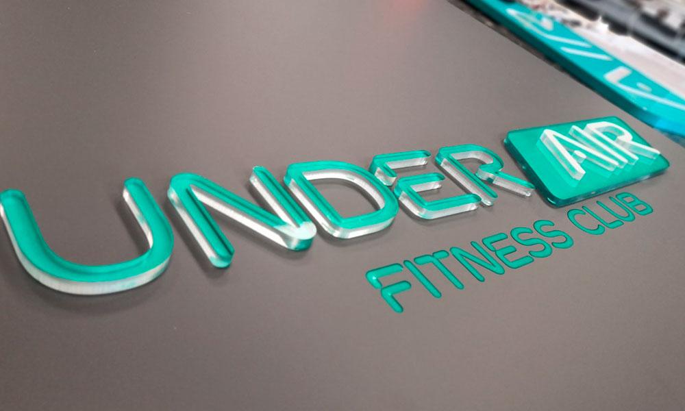 Вывески фитнес клуба Under Air