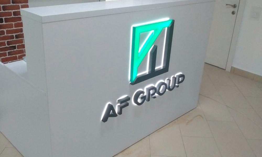 Интерьерная вывеска AFgroup