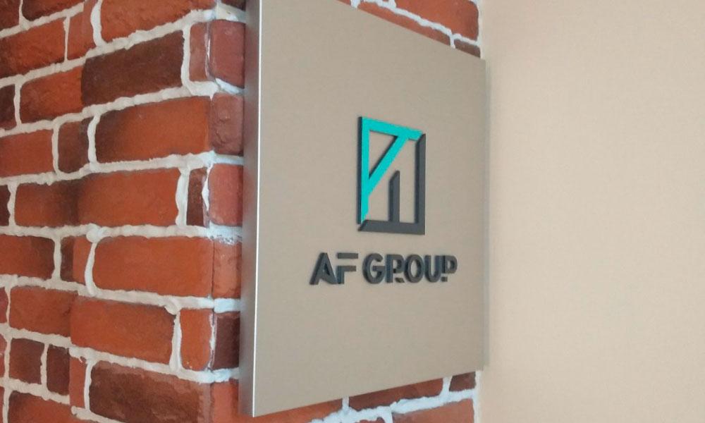 Табличка из композита AFgroup